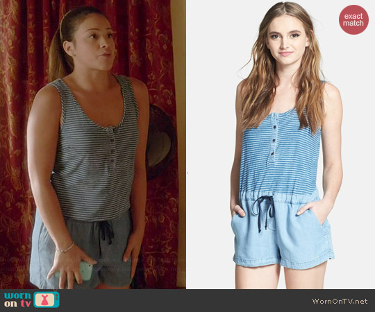 Splendid Stripe Bodice Romper worn by Gina Rodriguez on Jane the Virgin