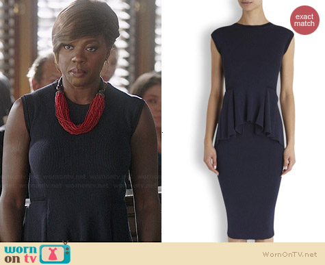 Sportmax Canova Dress worn by Viola Davis on HTGAWM