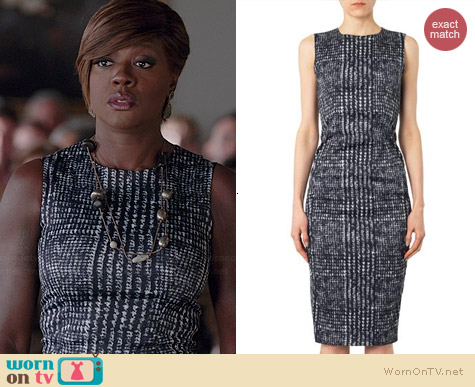 Sportmax Chantal Dress worn by Viola Davis on HTGAWM