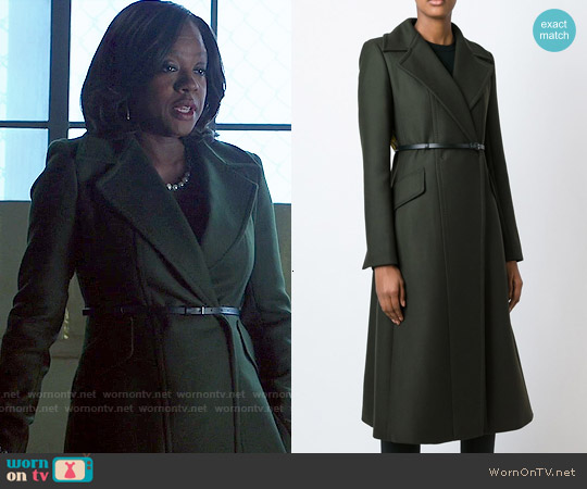 Sportmax Long Belted Coat worn by Viola Davis on HTGAWM