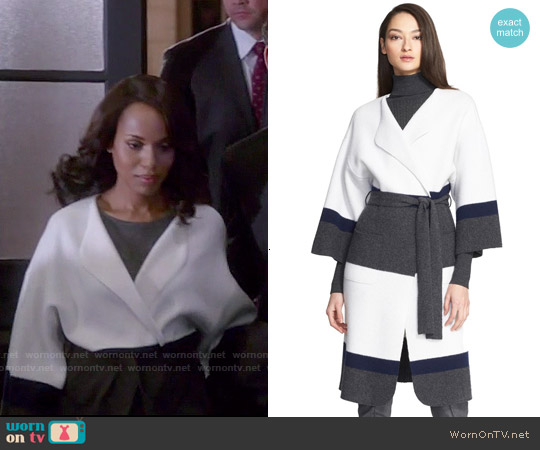 St John Collection Felted Wool & Cashmere Coat worn by Kerry Washington on Scandal