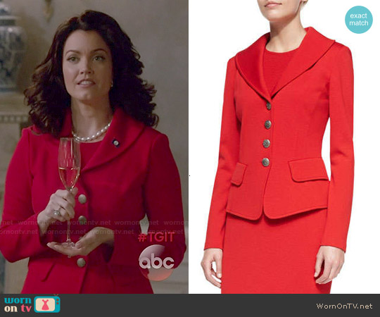 St John Collection 4 Button Blazer worn by Bellamy Young on Scandal