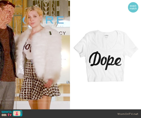 Stampd LA Dope Crop Top worn by Abigail Breslin on Scream Queens