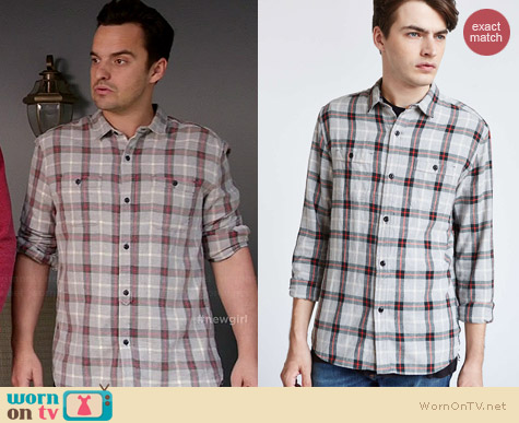 Stapleford Bates Flannel Shirt worn by Jake Johnson on New Girl