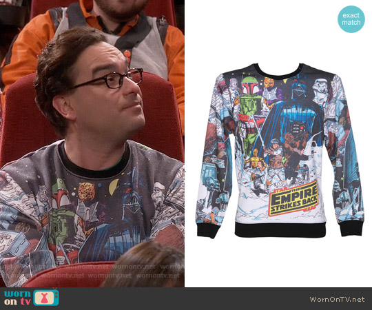 Star Wars Vintage Hoth Fleece Sublimation Print Sweatshirt worn by Johnny Galecki on The Big Bang Theory