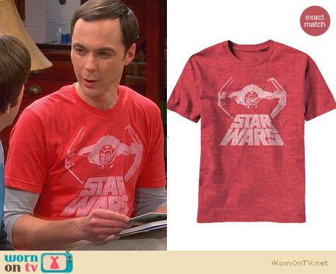 Star Wars Bat Figther Tee worn by Sheldon Cooper on The Big Bang Theory