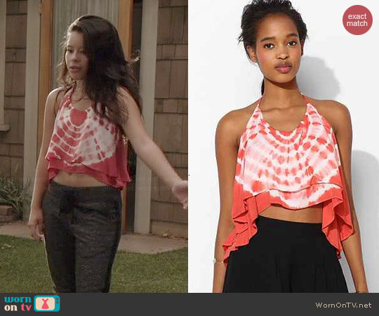 Staring at Stars Tie Dye Double Layer Halter Top worn by Cierra Ramirez on The Fosters