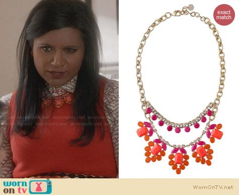 Stella & Dot Spring Awakening Necklace worn by Mindy Kaling on The Mindy Project