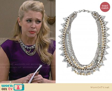 Stella & Dot Sutton Necklace worn by Melissa Joan Hart on Melissa & Joey