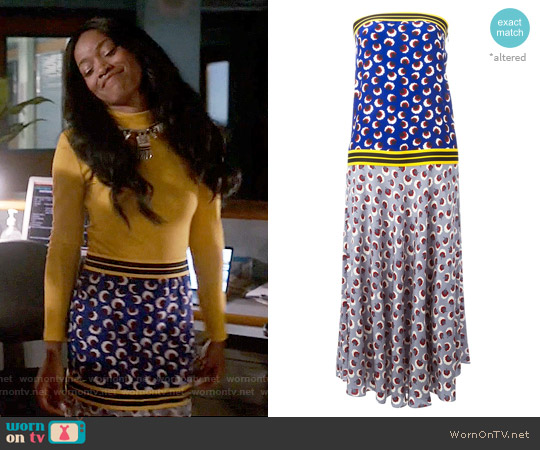 Stella McCartney Blossom Dress worn by Keke Palmer on Scream Queens