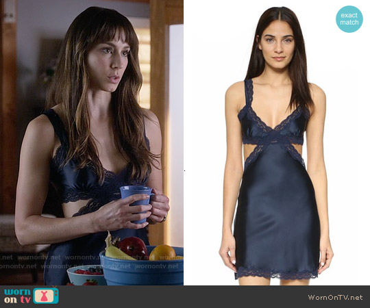 Stella McCartney Clara Whispering Chemise worn by Troian Bellisario on PLL