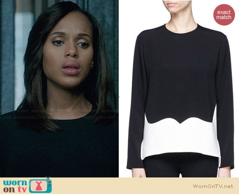 Stella McCartney Contrast Panel Top worn by Kerry Washington on Scandal