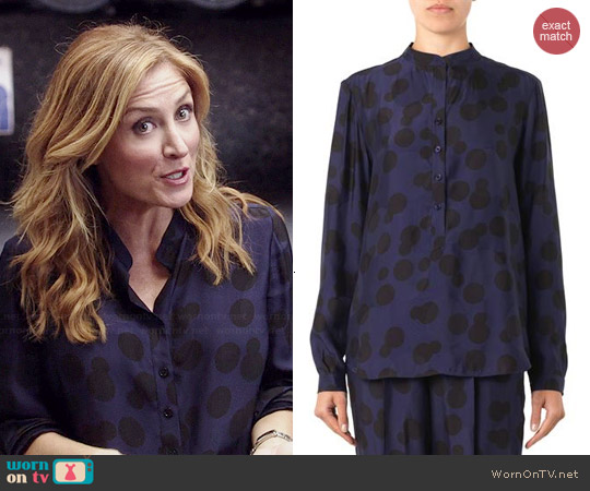 Stella McCartney Eva Polka Dot Blouse worn by Sasha Alexander on Rizzoli & Isles