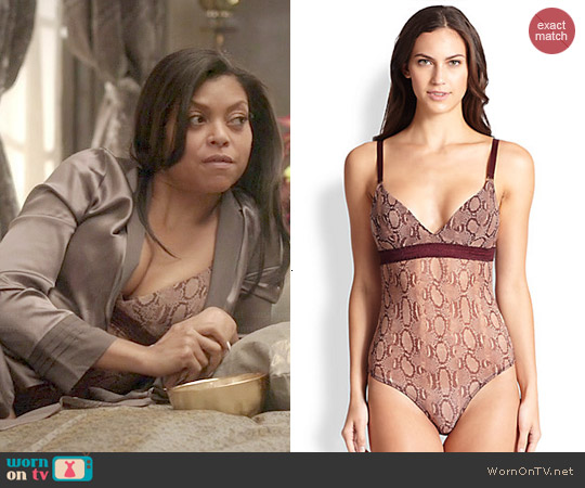 Stella McCartney Florence Snake Print Bodysuit worn by Taraji P. Henson on Empire