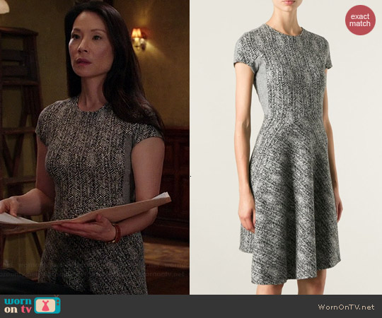 Stella McCartney Herringbone Dress worn by Lucy Liu on Elementary