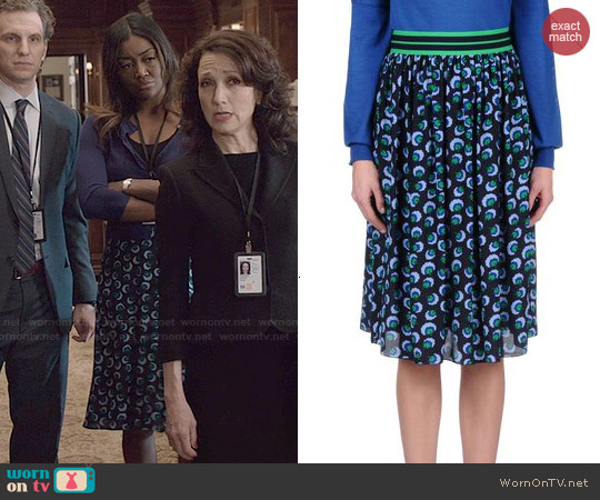 Stella McCartney Lucy Skirt worn by Patina Miller on Madam Secretary