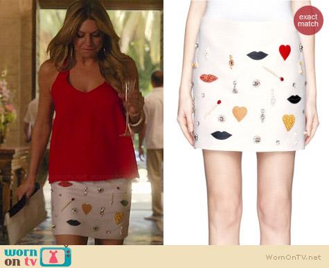Stella McCartney Rex Embellished Skirt worn by Jes Macallan on Mistresses