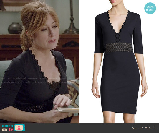 Stella McCartney Ric-Rac Half-Sleeve Dress worn by Sasha Alexander on Rizzoli & Isles