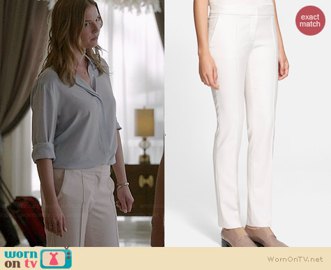 Stella McCartney Straight Leg Pants worn by Emily VanCamp on Revenge