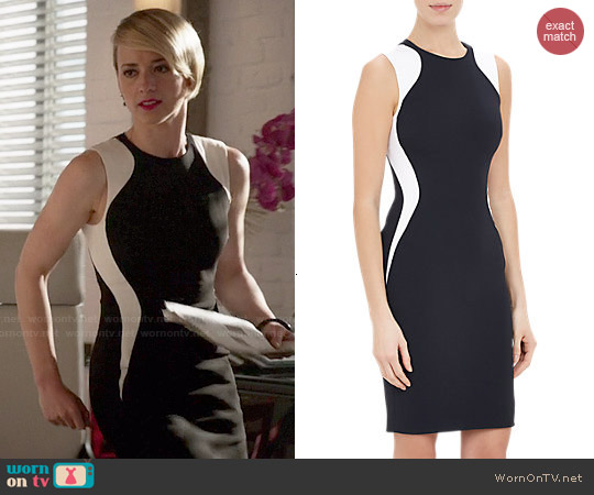 Stella McCartney Stretch Miracle Sheath worn by Karine Vanasse on Revenge