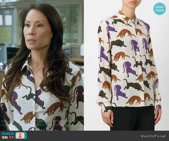 Stella McCartney Wilson Shirt worn by Lucy Liu on Elementary