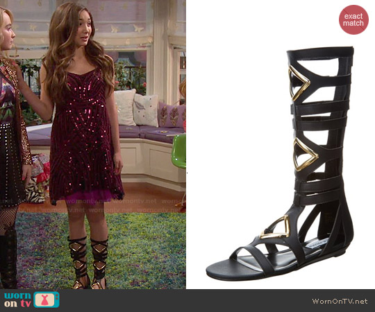 Steve Madden Arisotle Gladiator Sandal worn by Riley Matthews on Girl Meets World
