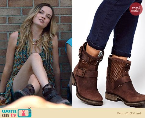 Steve Madden Flank M Biker Boots worn by Emily Meade on The Leftovers