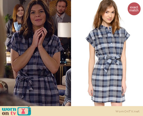 Steven Alan Winona Dress worn by Casey Wilson on Marry Me