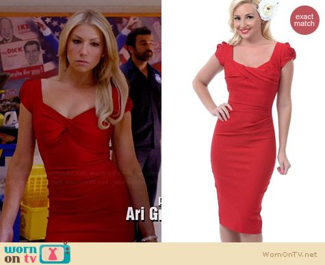 Stop Staring Billion Dollar Baby Dress in Red worn by Ari Graynor on Bad Teacher