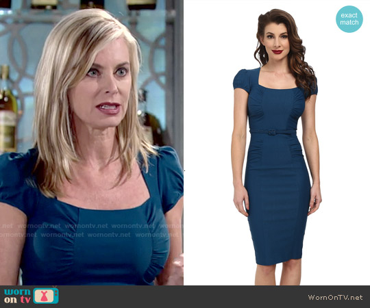 Stop Staring Lindsey Dress worn by Eileen Davidson on The Young & the Restless
