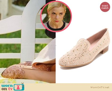 Stuart Weitzman Slipbeads Studded Loafers worn by Jaime King on Hart of Dixie