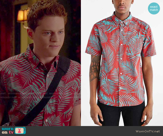 Stussy Palm Button Up Shirt worn by Sean Berdy on Switched at Birth
