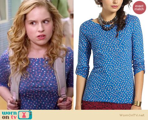 Suburgatory Fashion: Anthropologie Banter tee in blue worn by Allie Grant