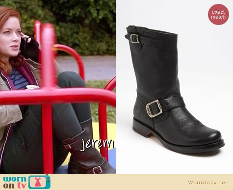 Suburgatory Fashion: Frye Veronica short boots worn by Jane Levy