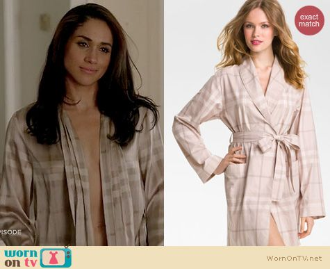 Suits Fashion: Burberry Check Robe worn by Meghan Markle