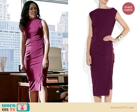 Suits Fashion: Roland Mouret Bilbao Crepe Jersey Dress worn by Gina Torres