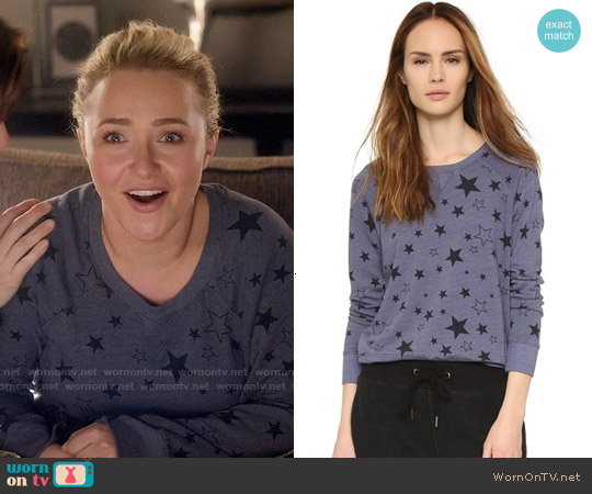 Sundry Classic Stars Sweatshirt worn by Hayden Panettiere on Nashville