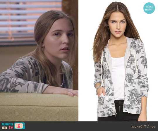 Sundry Floral Zip Hoodie worn by Lennon Stella on Nashville
