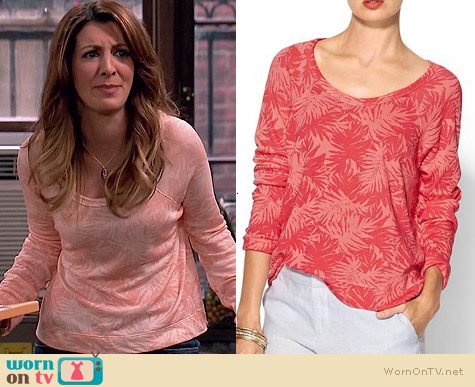 Sundry Palm Print Sweatshirt worn by Nasim Pedrad on Mulaney