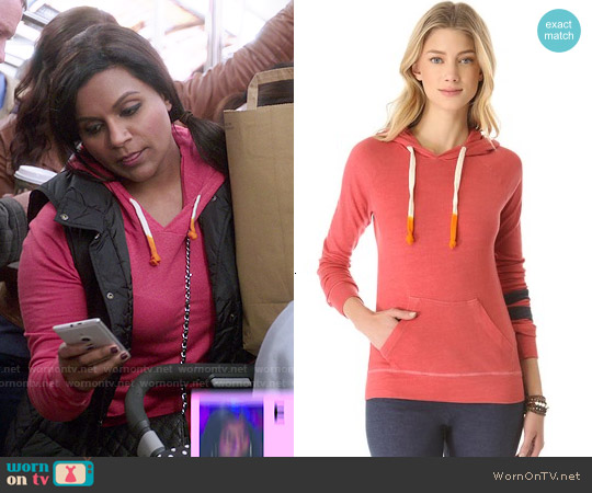 Sundry Pullover Hoodie worn by Mindy Kaling on The Mindy Project