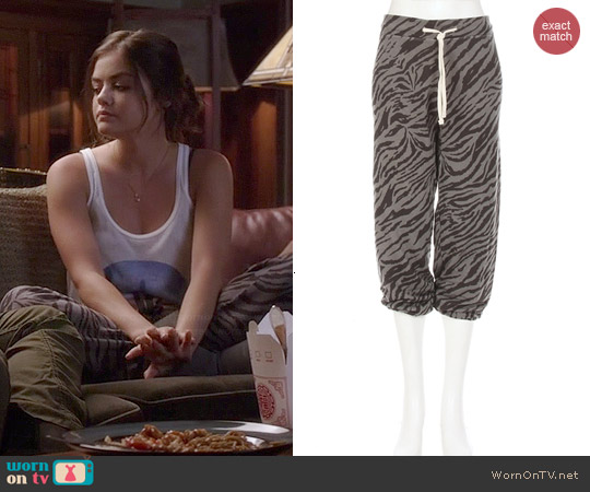 Sundry Tiger Sweatpants worn by Lucy Hale on PLL