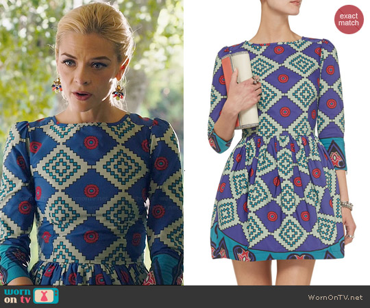 Suno Printed Faille Dress worn by Jaime King on Hart of Dixie
