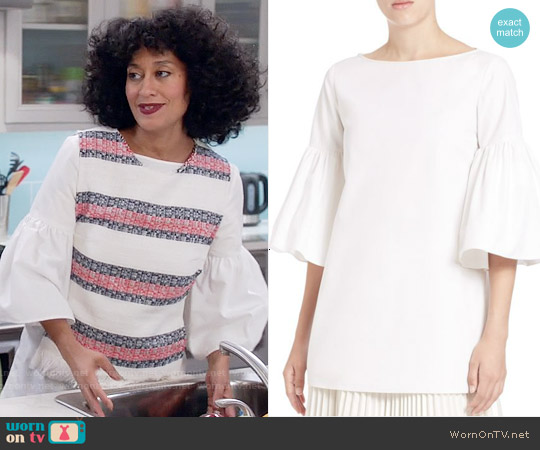 Suno Silk Bell Sleeve Tunic worn by Rainbow Johnson on Blackish