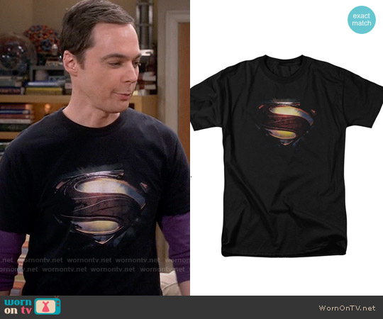Superman Shield T-shirt worn by Jim Parsons on The Big Bang Theory