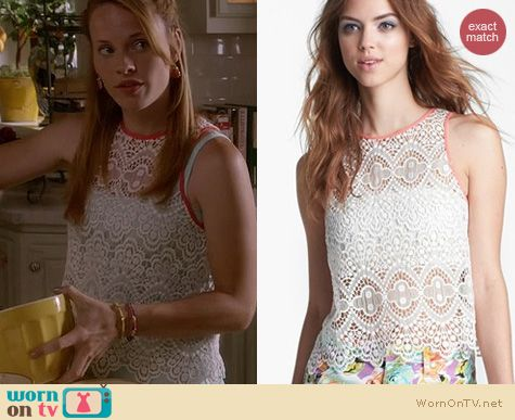 Switched at Birth Fashion: ASTR Crochet tank worn by Katie Leclerc