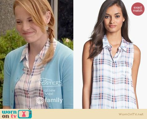 Switched at Birth Style: Equipment Mina Blouse in plaid worn by Katie Leclerc