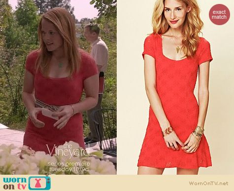 Switched at Birth Fashion: Free People Daisy Godet slip dress worn by Katie Leclerc