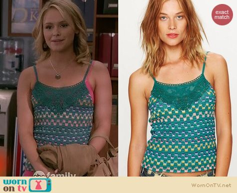Switched at Birth Fashion: Free People Heartbeat Rochelle top worn by Cassi Thomson