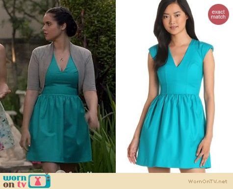 Switched at Birth Fashion: French Connection Unno dress in Bali Blue worn by Vanessa Marano