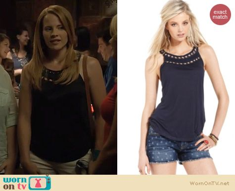 Switched at Birth Fashion: Lucky Brand Nixie Beaded tank worn by Katie Leclerc